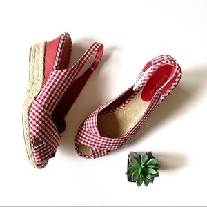 Liz Claiborne Shoes Paula Peep Toe Wedge Pumps Nwot